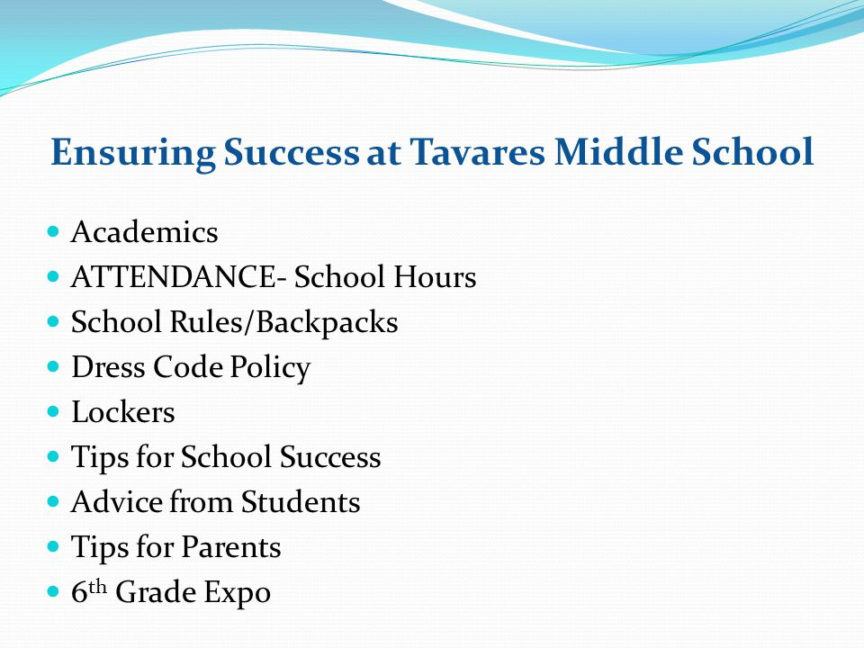Ensuring Success at Tavares Middle School