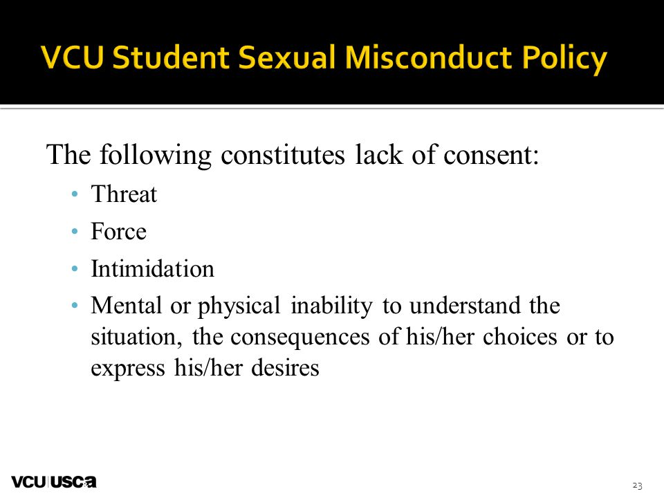 VCU Student Sexual Misconduct Policy