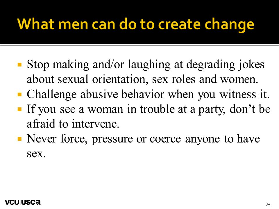 What men can do to create change