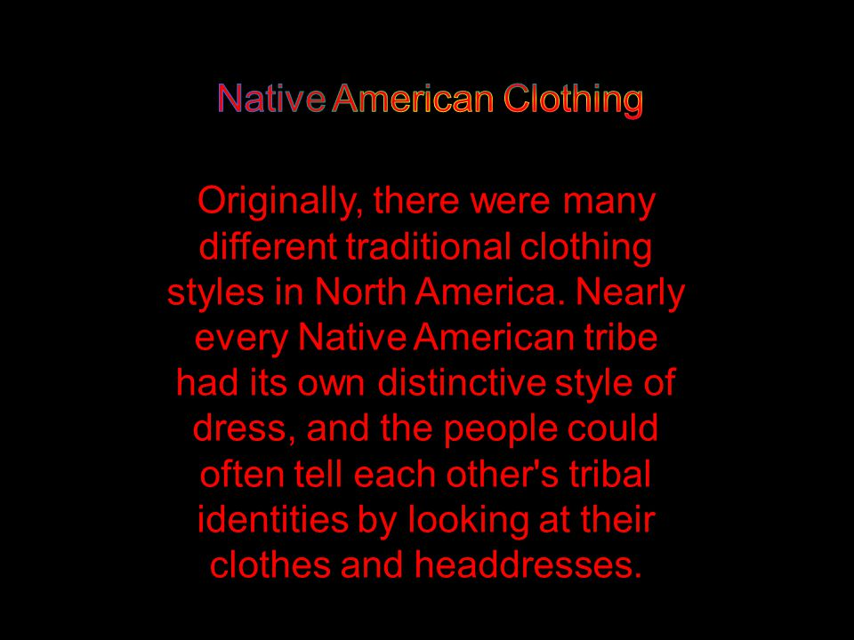 Native American Clothing