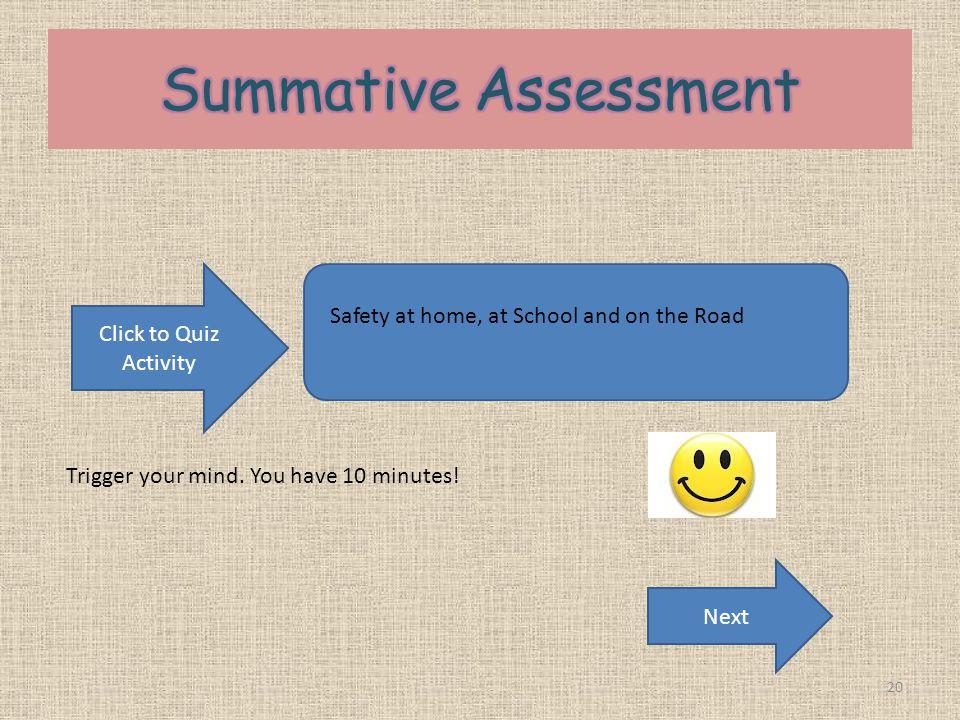Summative Assessment Click to Quiz Activity