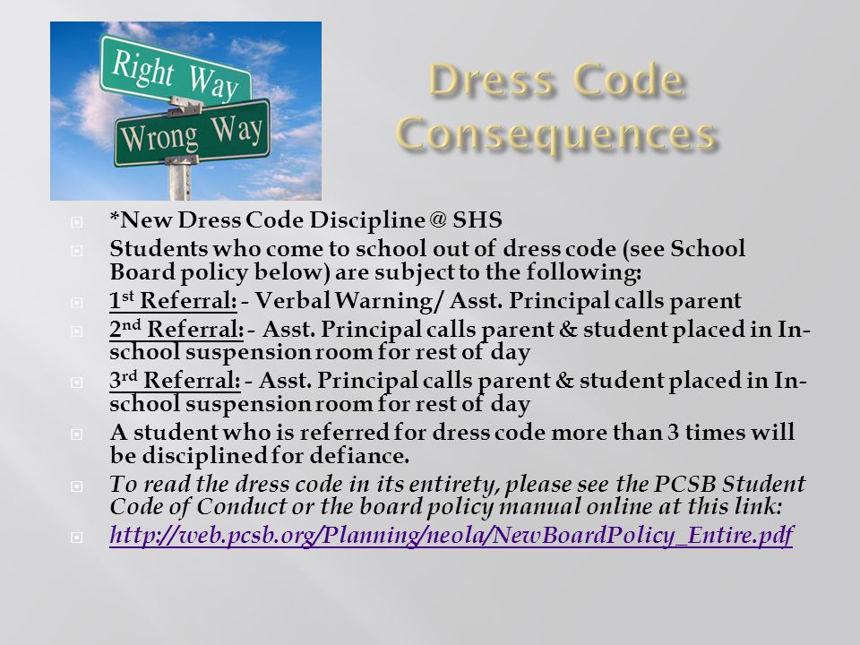Dress Code Consequences