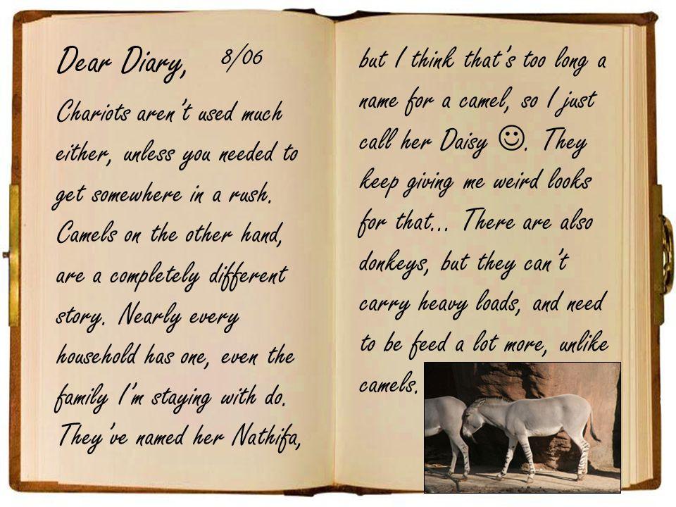 Dear Diary, 8/06.