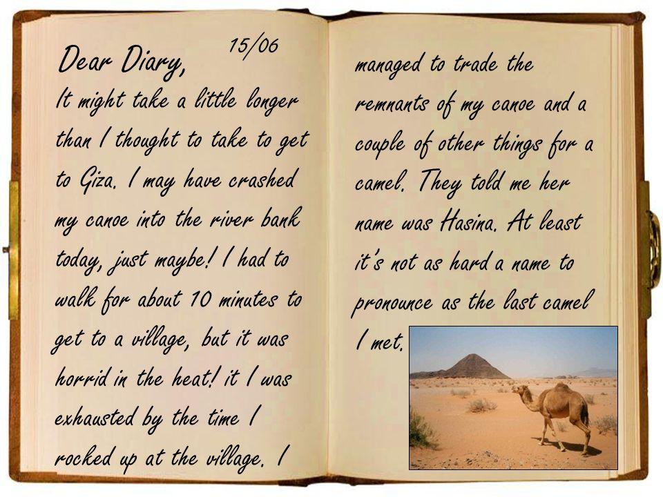 Dear Diary, 15/06.