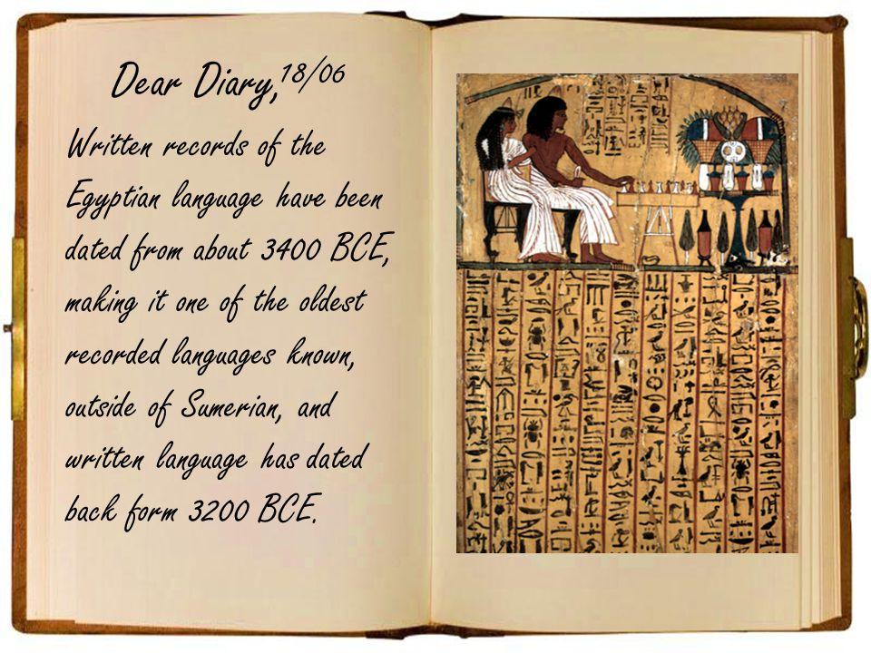 Dear Diary, 18/06.