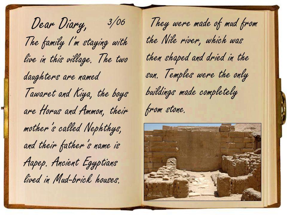 Dear Diary, 3/06.