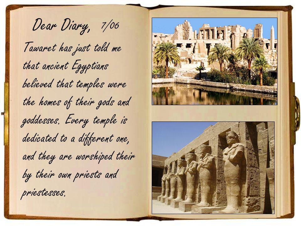 Dear Diary, 7/06.