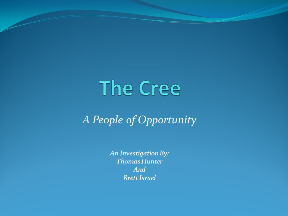 A People of Opportunity