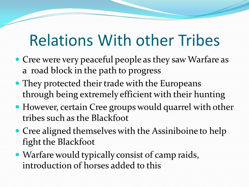 Relations With other Tribes