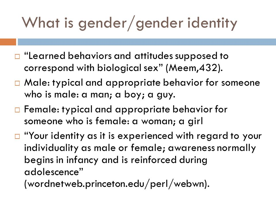 What is gender/gender identity