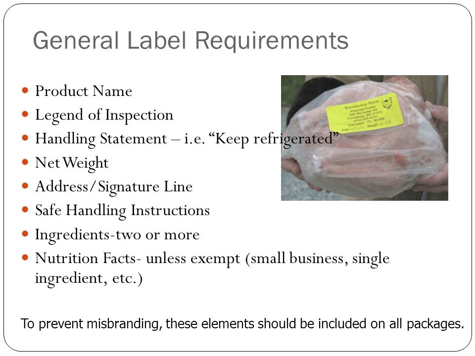 General Label Requirements