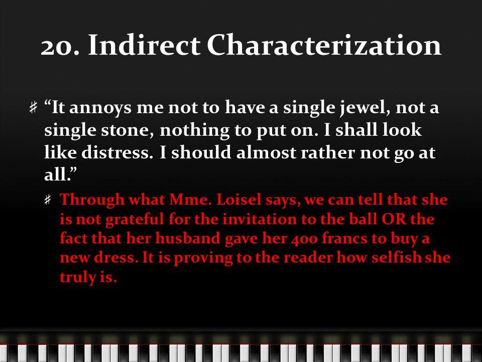 20. Indirect Characterization