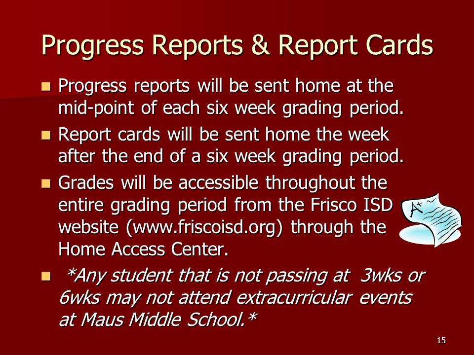 Progress Reports & Report Cards