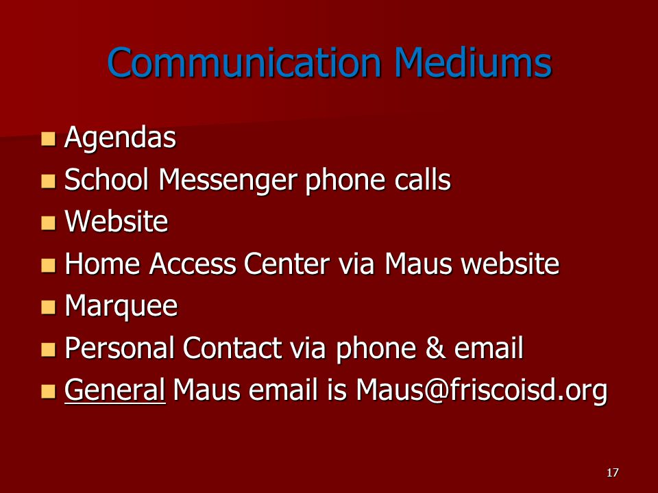 Communication Mediums
