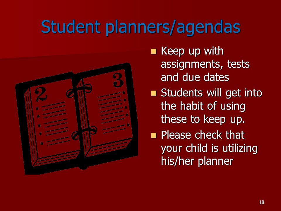 Student planners/agendas