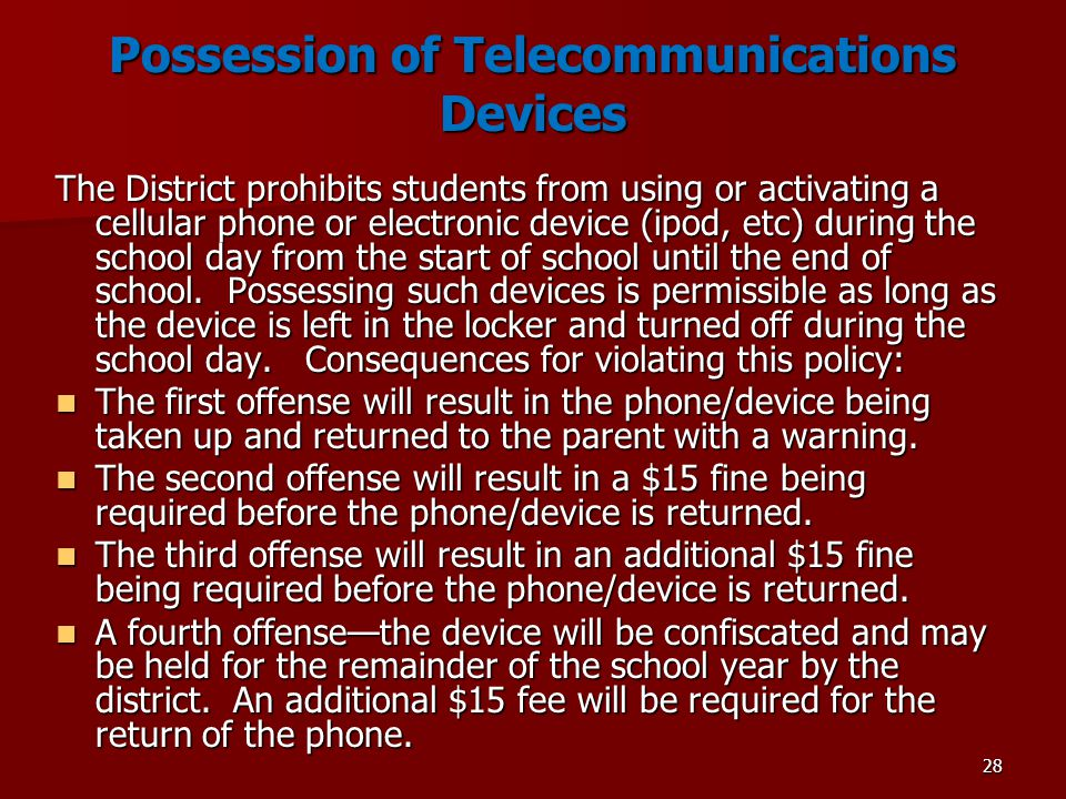 Possession of Telecommunications Devices