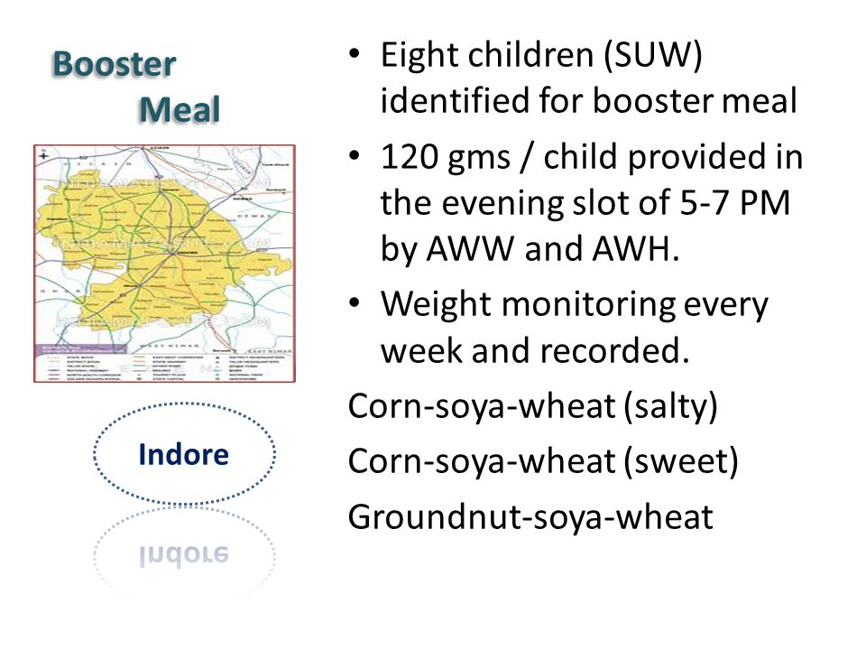 Eight children (SUW) identified for booster meal