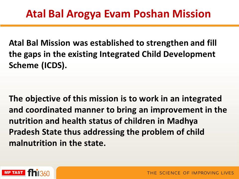 Atal Bal Arogya Evam Poshan Mission