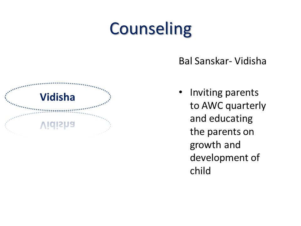 Counseling Vidisha Bal Sanskar- Vidisha