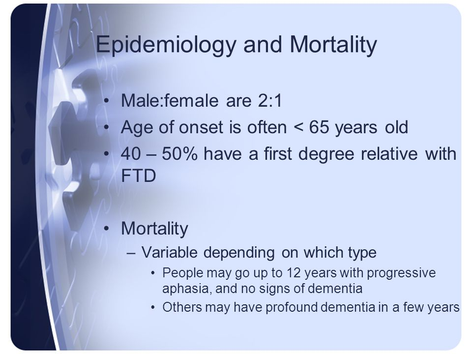 Epidemiology and Mortality
