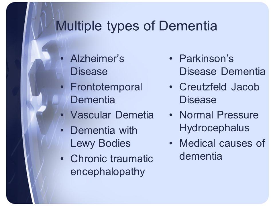 Multiple types of Dementia