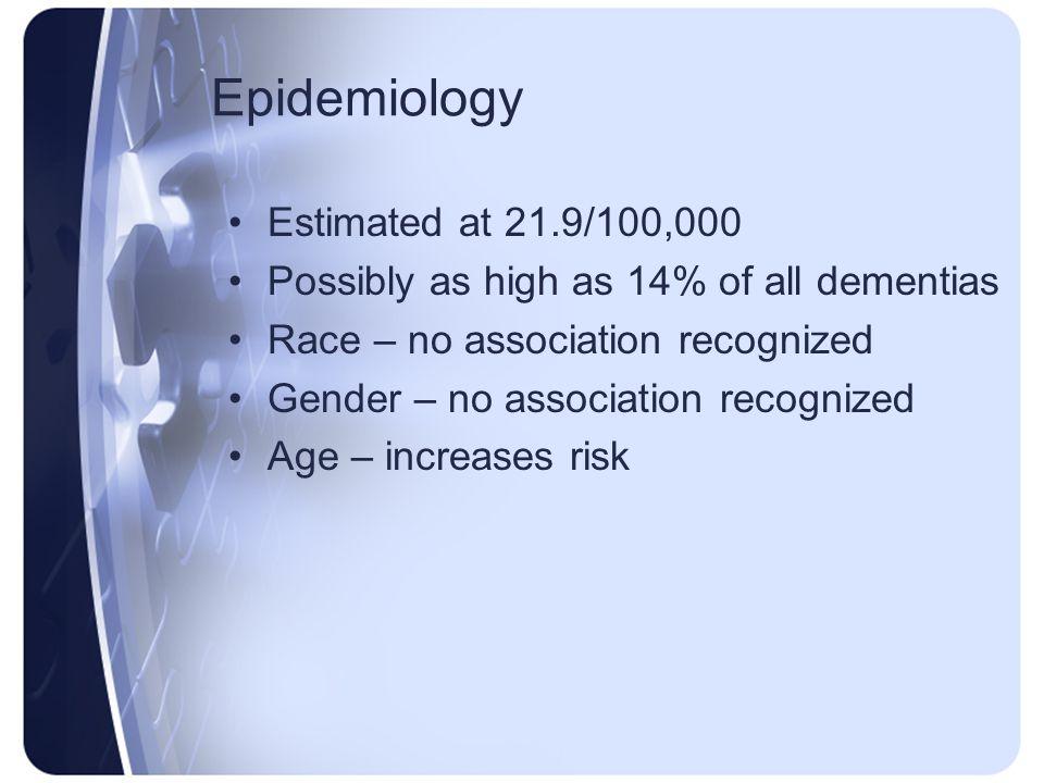 Epidemiology Estimated at 21.9/100,000