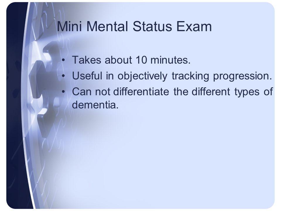 Mini Mental Status Exam