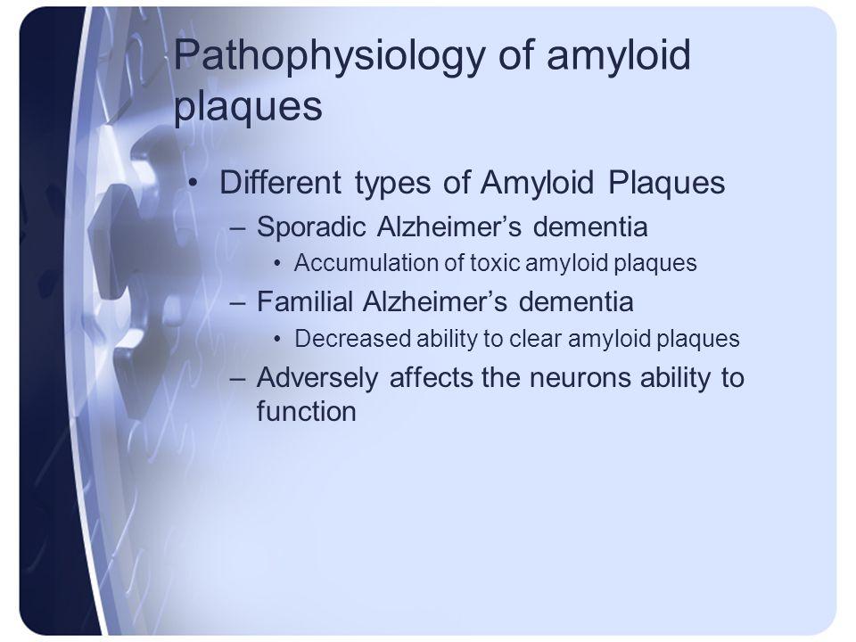 Pathophysiology of amyloid plaques