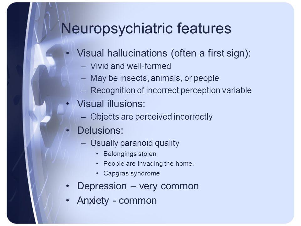 Neuropsychiatric features