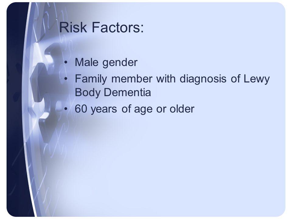 Risk Factors: Male gender