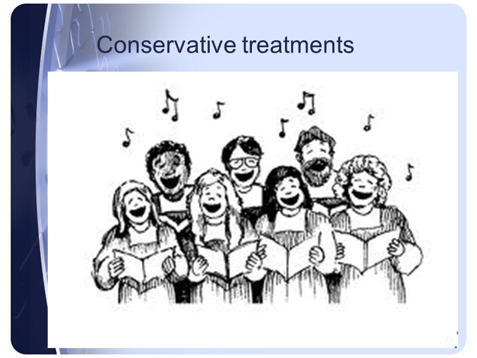 Conservative treatments