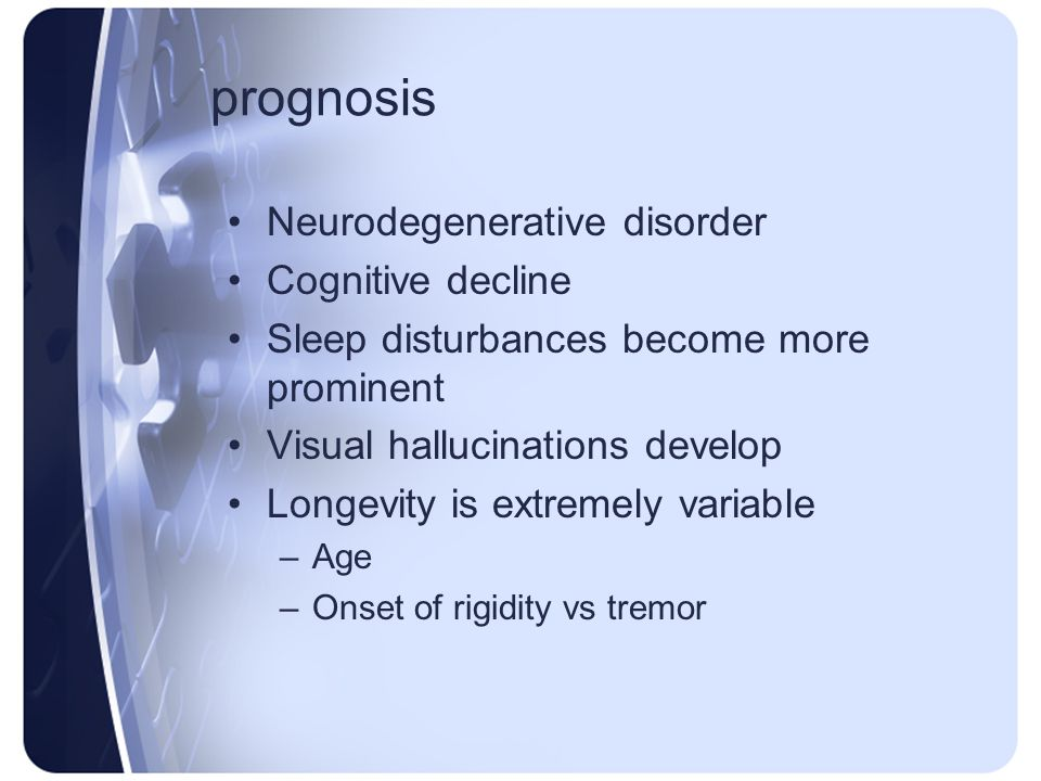 prognosis Neurodegenerative disorder Cognitive decline