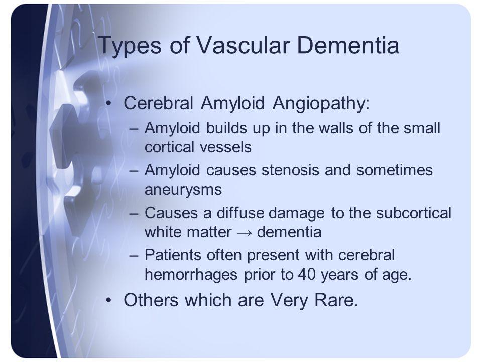 Types of Vascular Dementia