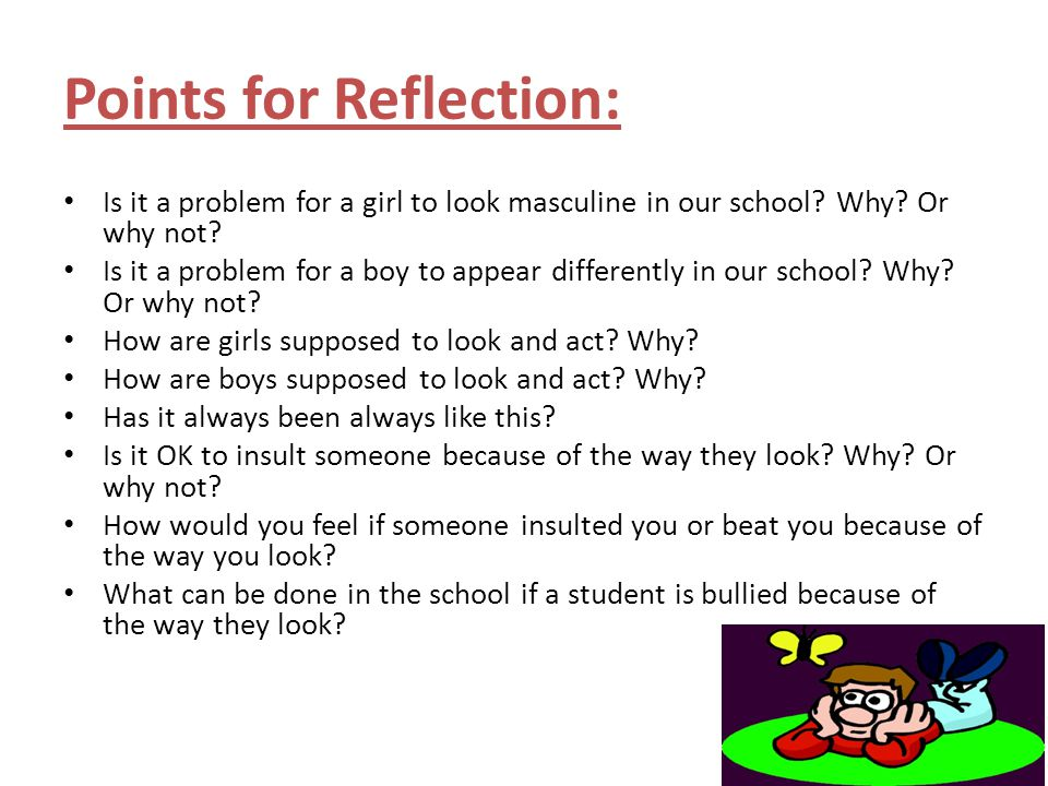 Points for Reflection: