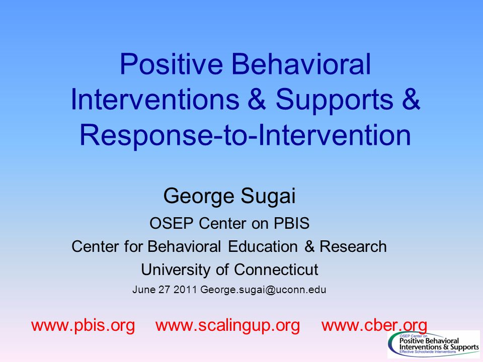 Positive Behavioral Interventions & Supports & Response-to-Intervention