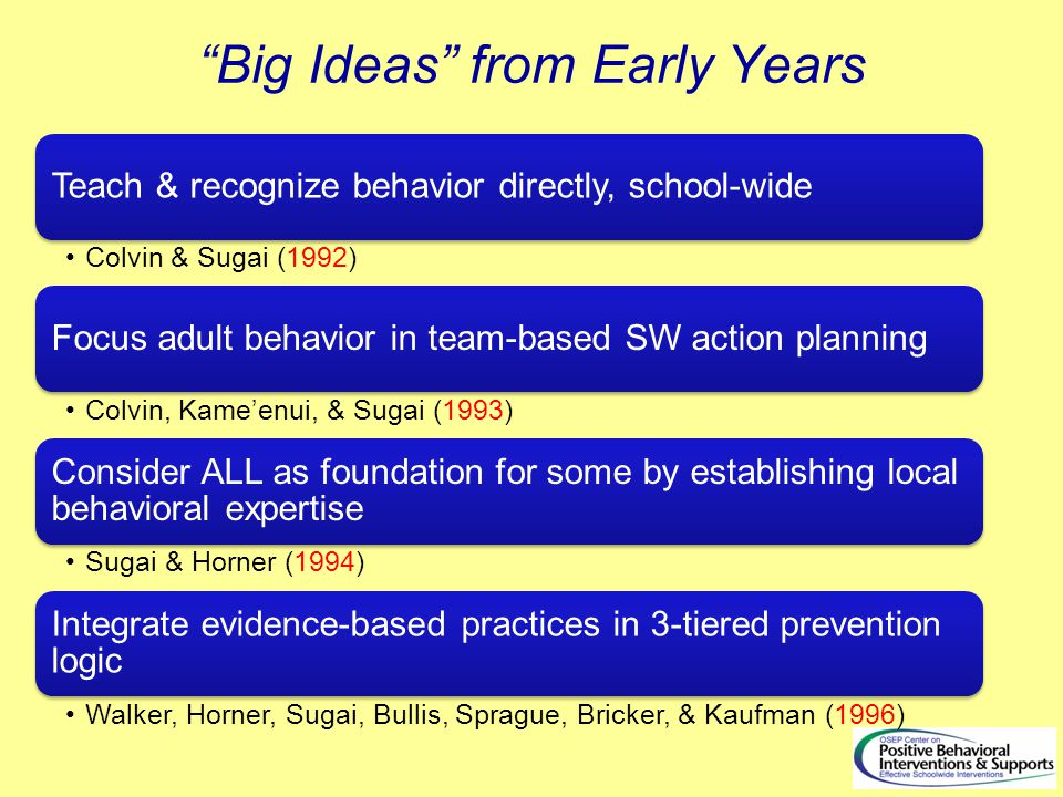 Big Ideas from Early Years