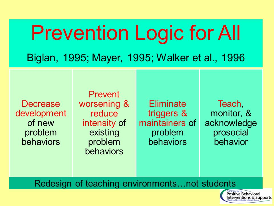 Prevention Logic for All