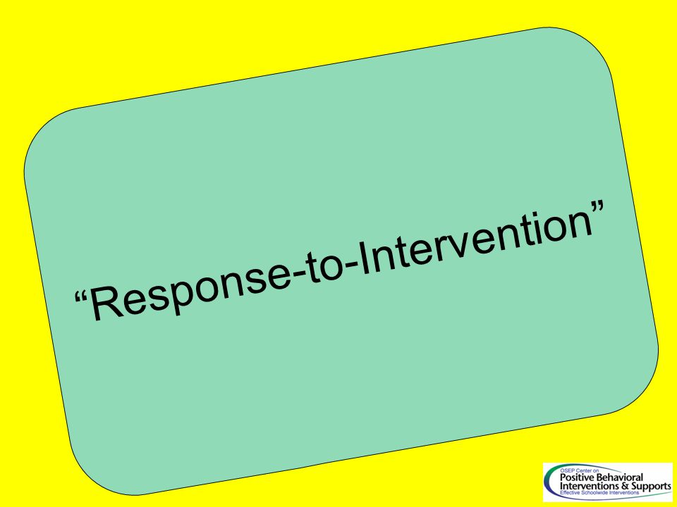 Response-to-Intervention