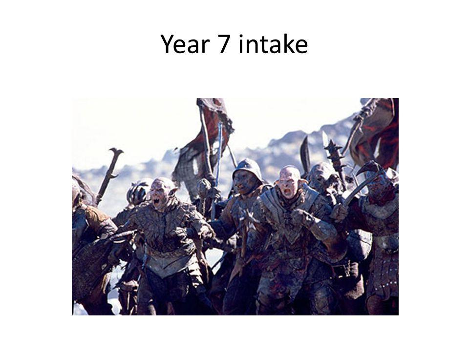 Year 7 intake
