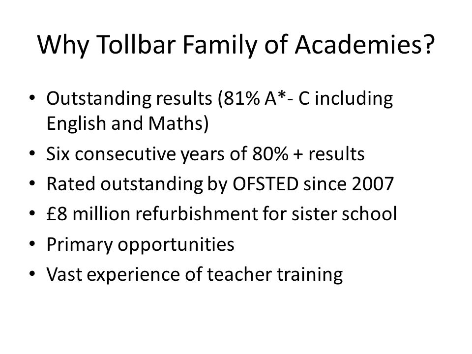 Why Tollbar Family of Academies