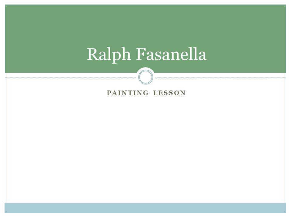 Ralph Fasanella Painting lesson