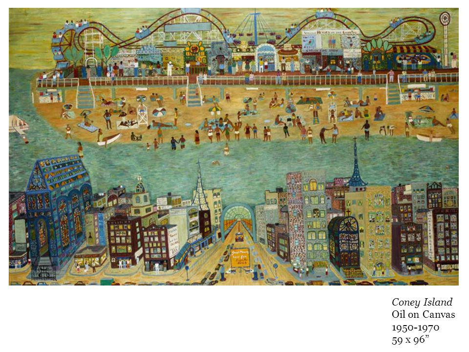 Coney Island Oil on Canvas x 96