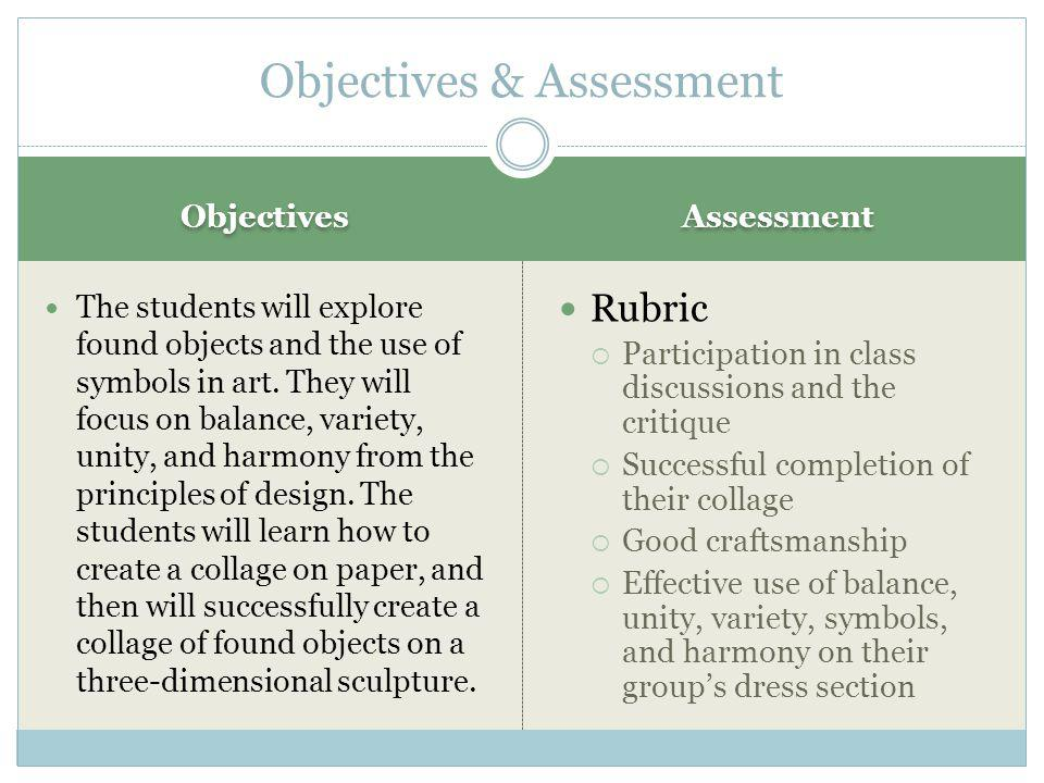 Objectives & Assessment