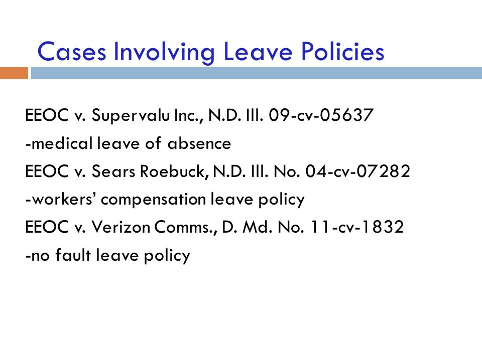 Cases Involving Leave Policies