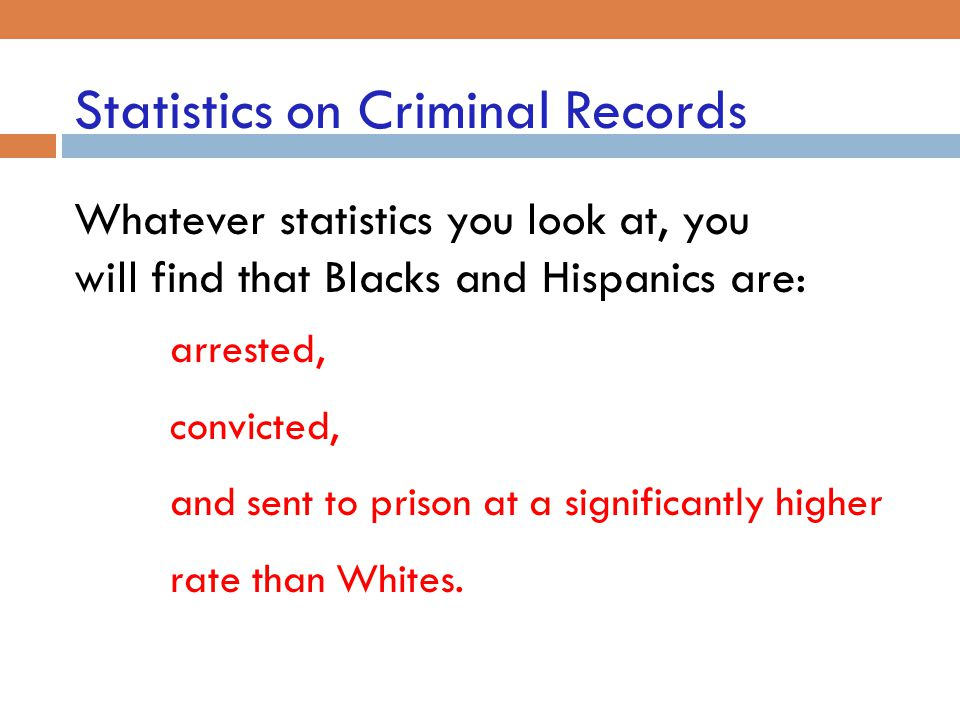 Statistics on Criminal Records