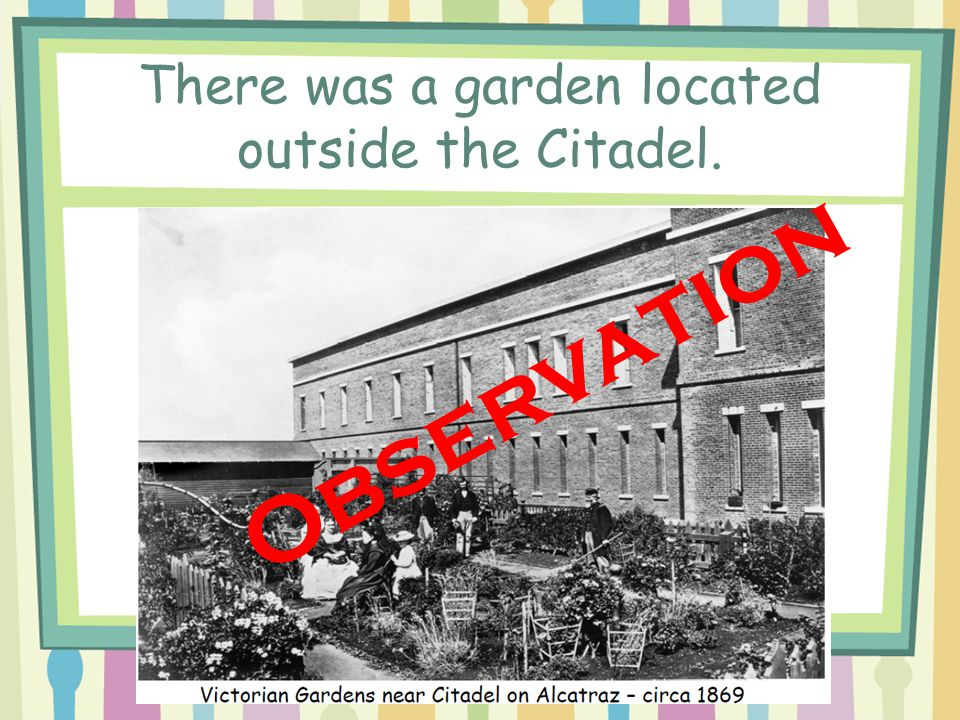 There was a garden located outside the Citadel.