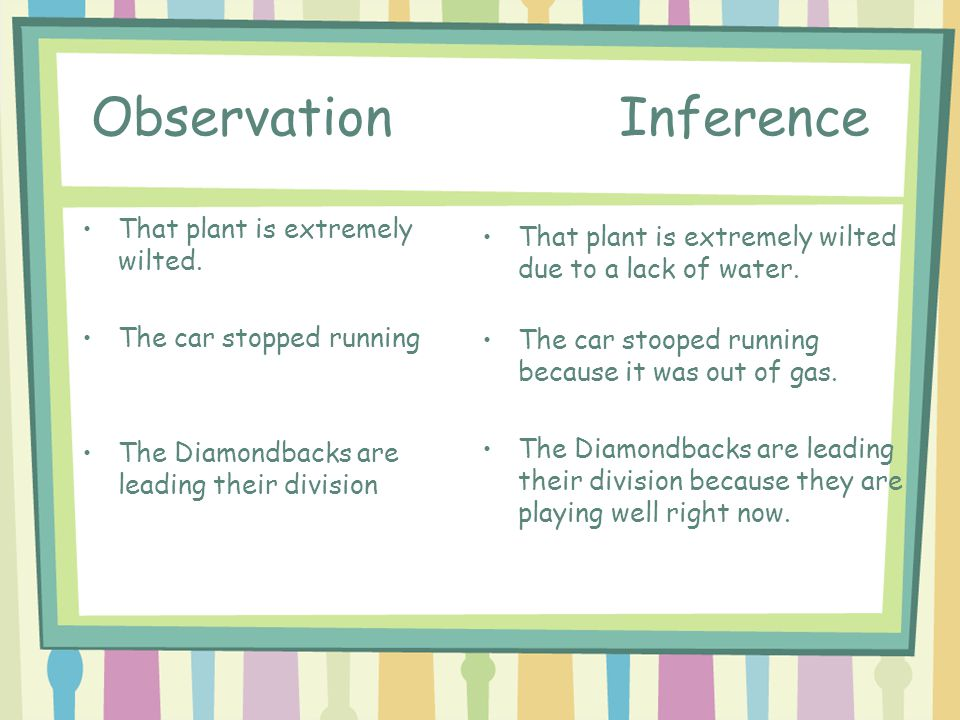 Observation Inference