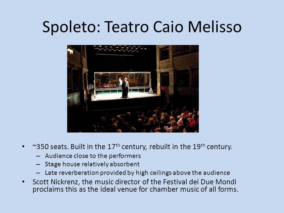 Spoleto: Teatro Caio Melisso