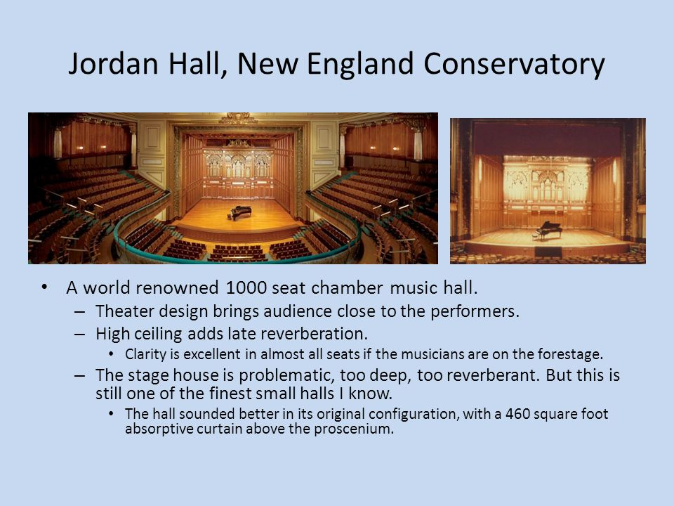 Jordan Hall, New England Conservatory