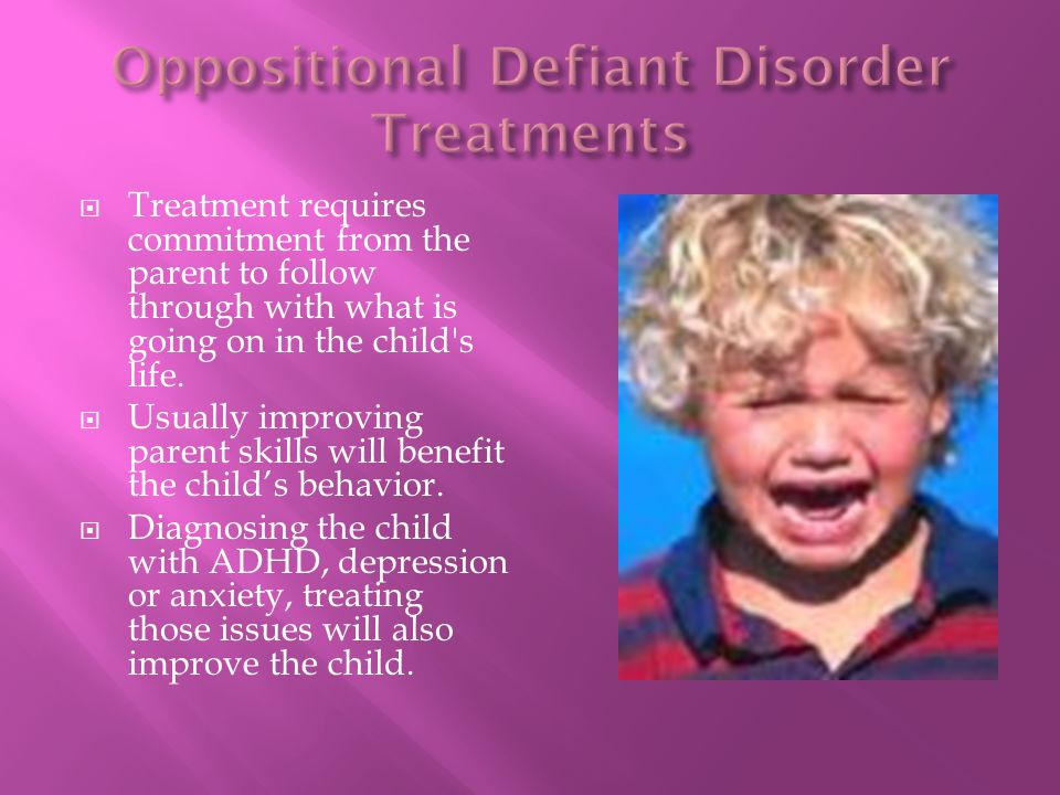 Oppositional Defiant Disorder Treatments